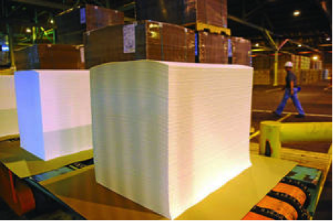 MACLEOD PAPPIDAS   THE DAILY WORLD A stack of white fiber is ready to be packed at Cosmo Specialty Fibers in Cosmopolis on Thursday